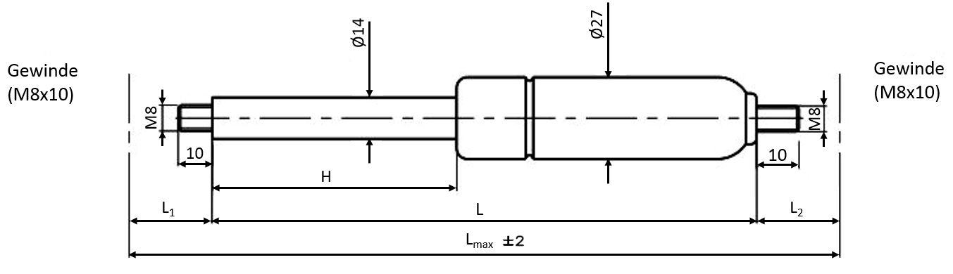680402E Hub 250 Länge 555
