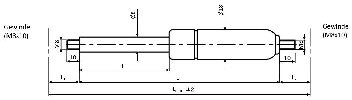 680431E Hub 80 Länge 205